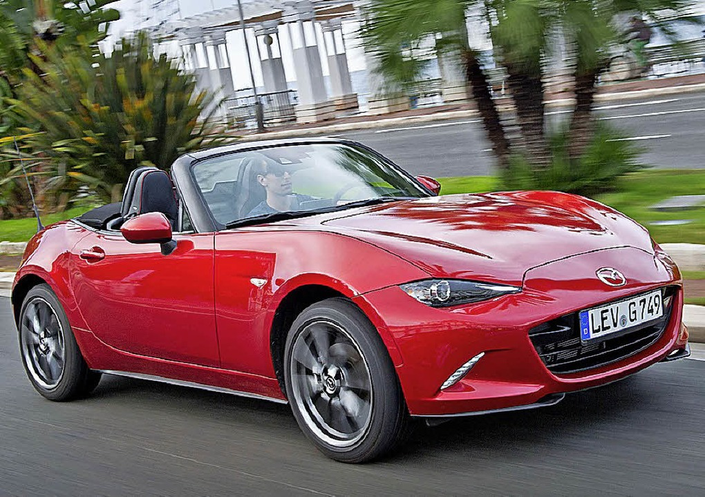 Offener Dauerläufer mit zwei Sitzen: D...MX-5 verkauft Mazda schon seit 1989.      Foto: Mazda/dpa