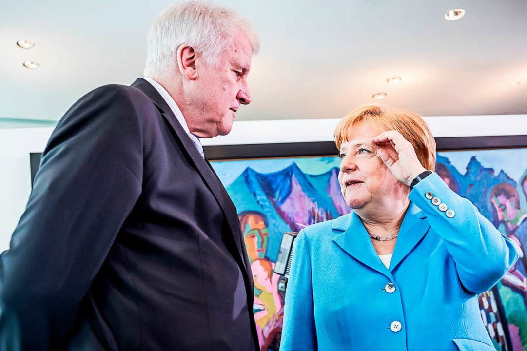 Seehofer und Merkel  | Foto: dpa