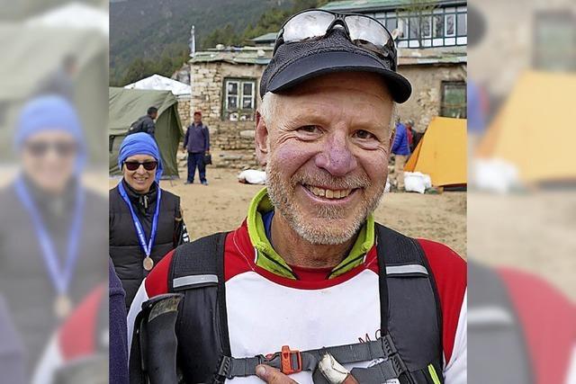 Zum Marathon am Mount Everest