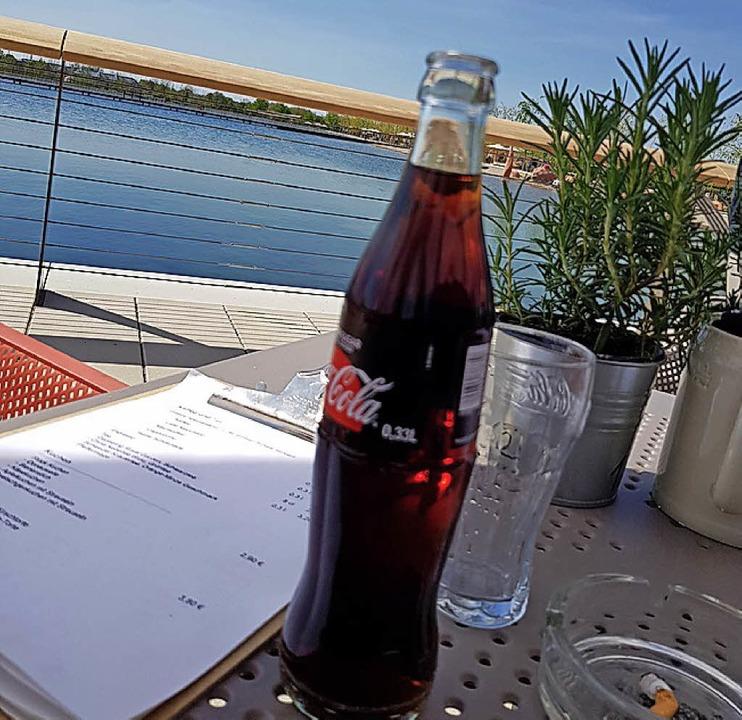 Entspannen bei einem Getränk am See der LGS  | Foto: Nic wilhelm