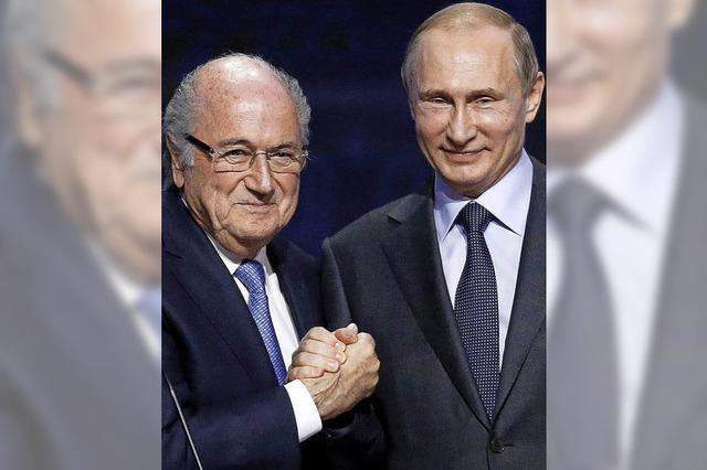 Brisanter Blatter-Besuch