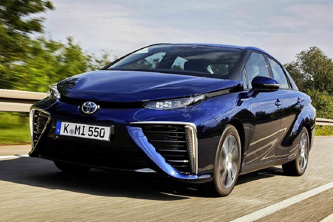 Gewagtes Design – der Toyota Mir...Mirai (japanisch) für Zukunft steht.      Foto: Toyota