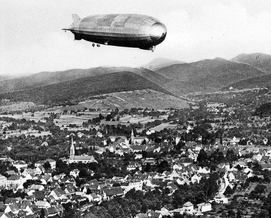 Nur von kurzer Dauer war das Projekt, ...einen Zeppelinflughafen zu errichten.     Foto:  markgräfler Museum