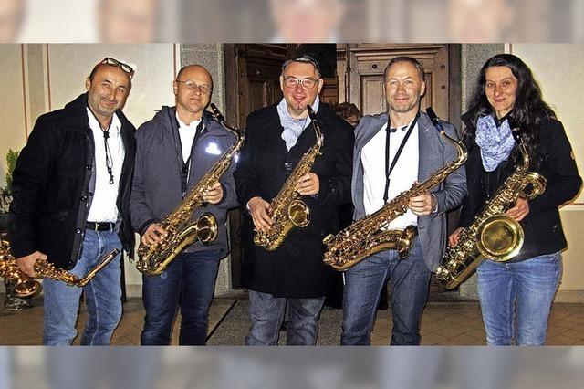 Saxophonquintett mit neuem Porgramm im Bistro Warm-up