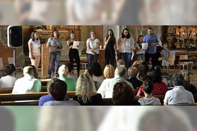 Offenes Singen in der Kirche