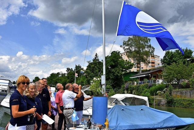 Die blaue Flagge ist gehisst