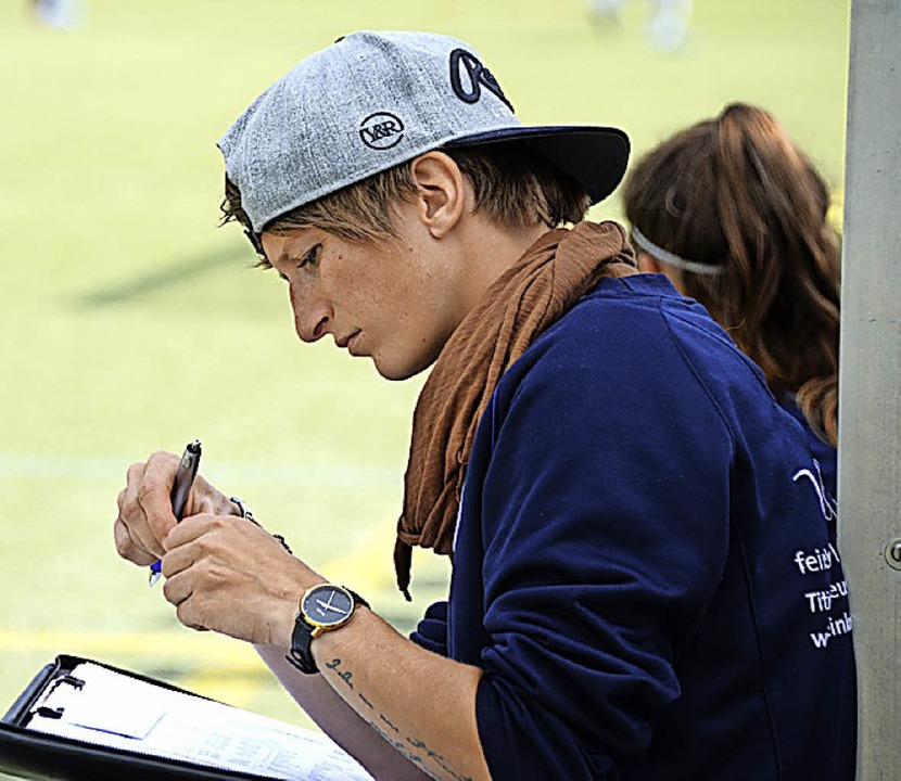 Titisees Trainer Jasmin Kaiser blickt auf eine durchwachsene Saison zu rück.     Foto: seeger