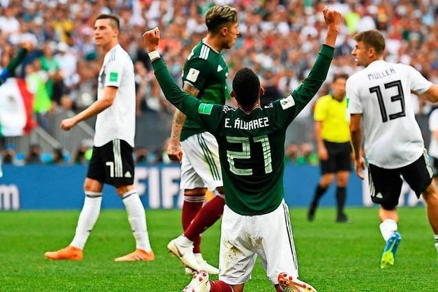 Die deutsche Nationalelf verliert ihr Auftaktspiel gegen Mexiko