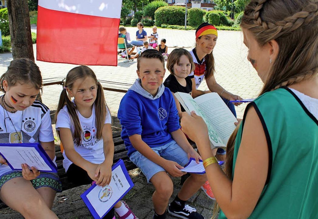 Lesen und zwischendurch Sport machen &...isterschaft der Grundschule Eschbach.   | Foto: Erich Krieger