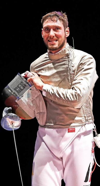 Max Hartung verteidigte seinen EM-Titel im Säbelfechten.   | Foto: dpa