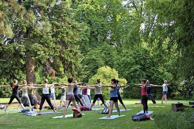 Der internationale Yoga-Tag in Freiburg