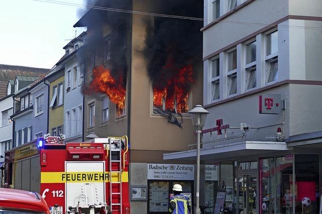 Brand überm Tabakladen