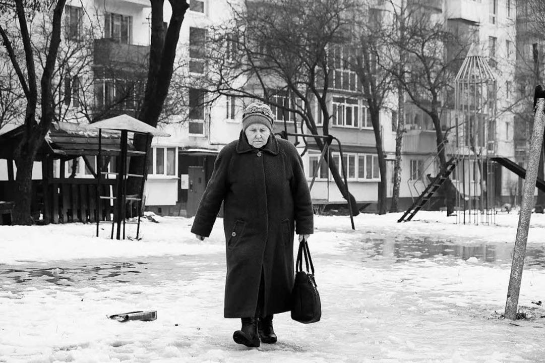 Krankenschwester Olga Roman auf dem Weg zu ihren Klienten    Foto: Privat