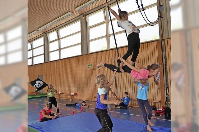 Grundschüler im Zirkusfieber