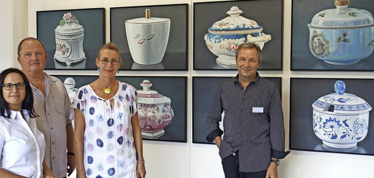 Elena Romanzin, Günter Ruf, Marga Golz... li.) organisierten die Ausstellung .   | Foto: frey