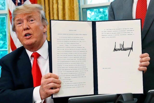 Trump unterzeichnet Dekret zum Stopp der Familientrennungen