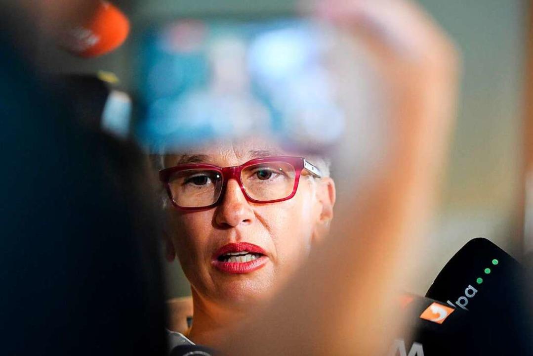 Staatsanwältin Nicola Novak vertritt i...Staufener Missbrauchsfall die Anklage.    Foto: dpa
