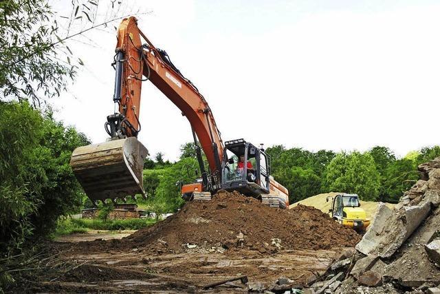 Bauarbeiten für Hochwasserschutz