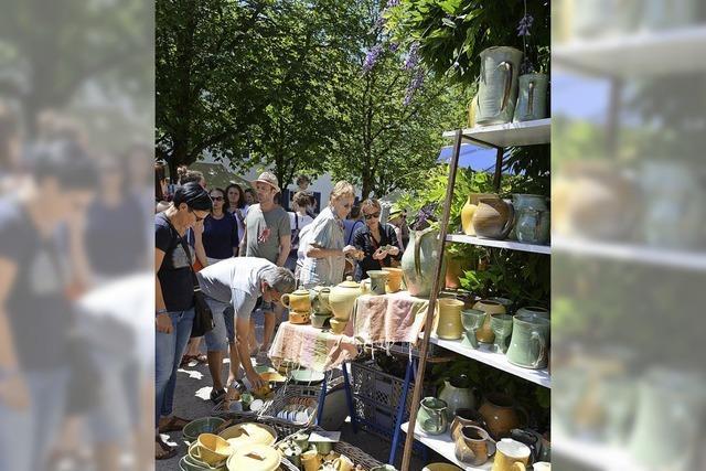 Töpfermarkt am 23. und 24. Juni am Alten Wiehrebahnhof Freiburg