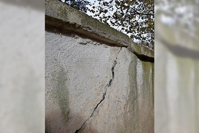Die Sanierung der Stadtmauer beginnt am Montag