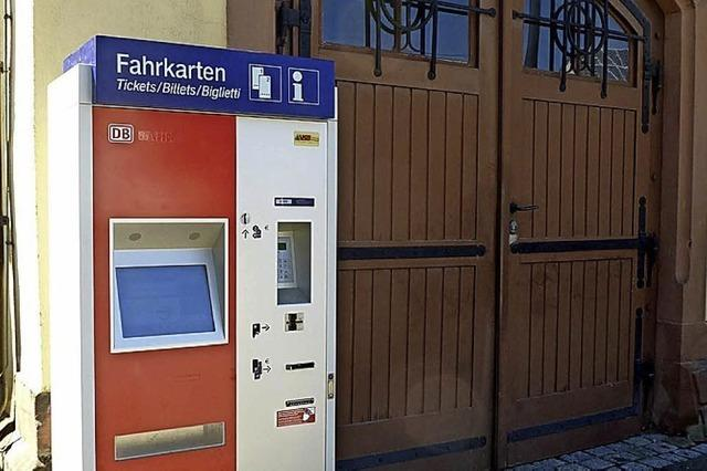 Neuer Automat für Fahrkarten