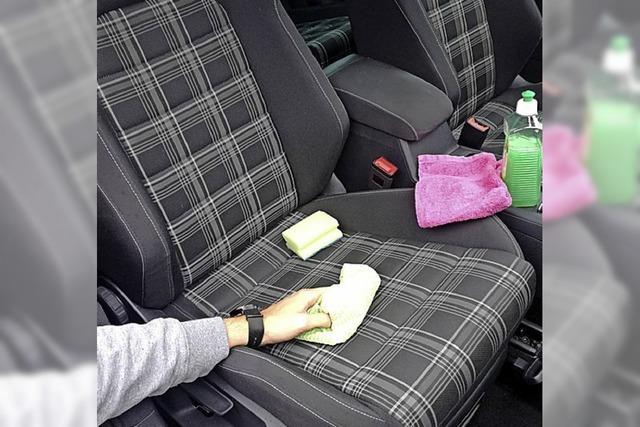 Pflege für die Sitze im Auto