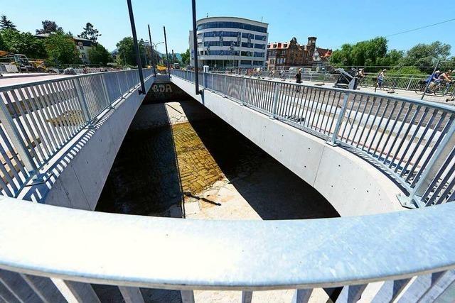 Der Neubau der Freiburger Kronenbrücke tritt in die finale Phase