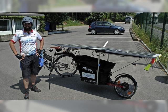 Auf dem E-Bike bis nach China