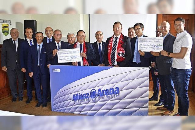 Spenden für Fußball und Lebenshilfe