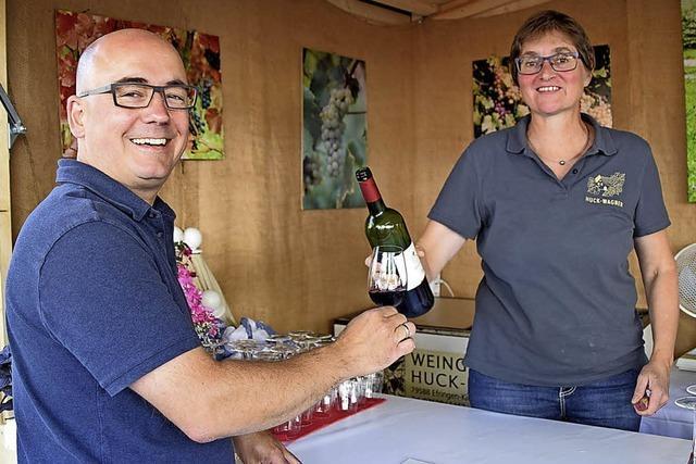 Werbung für den regionalen Wein