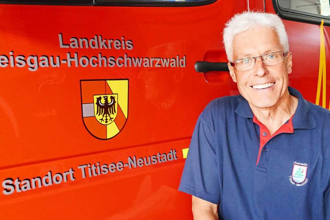 Er ist Feuerwehrmann mit Leib und Seele: Gotthard Benitz.   | Foto: Tanja Bury
