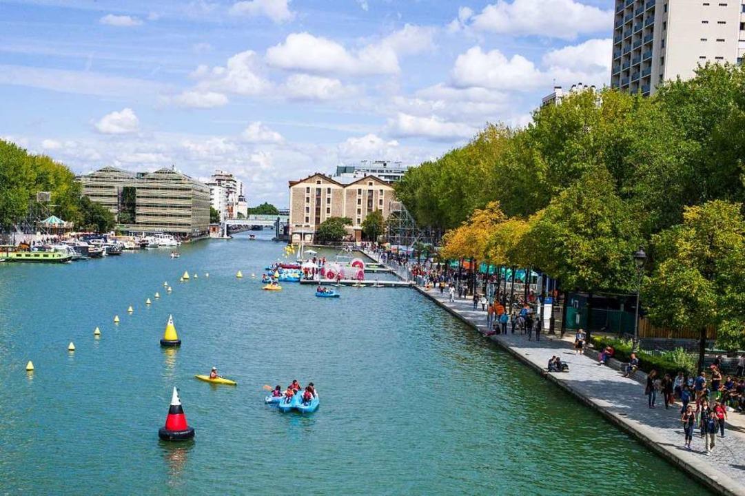Es muss ja nicht immer die Seine sein: am Bassin de la Villette.  | Foto: FRED DUFOUR