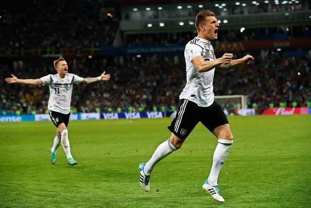 2:1 gegen Schweden: Kroos erlöst den Weltmeister in Unterzahl