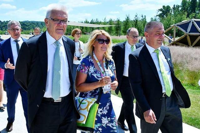 Ministerpräsident Winfried Kretschmann besucht die Landesgartenschau