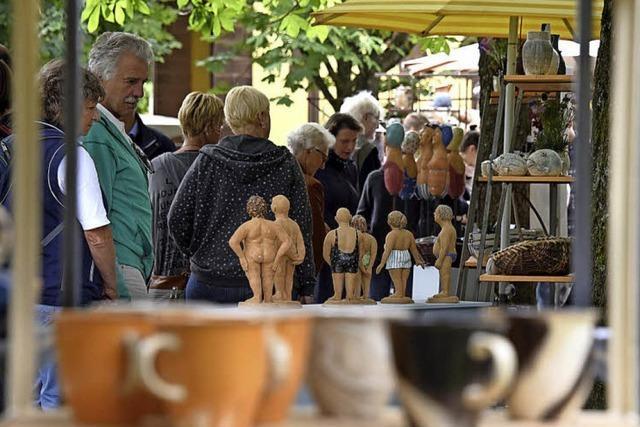 Beim 28. Freiburger Keramikmarkt am vergangenen Wochenende war jeder Stand eine eigene kleine Welt