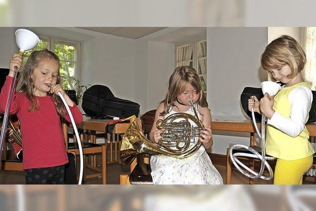 Wenn die Jüngsten musizieren, steht die Spielfreude im Vordergrund