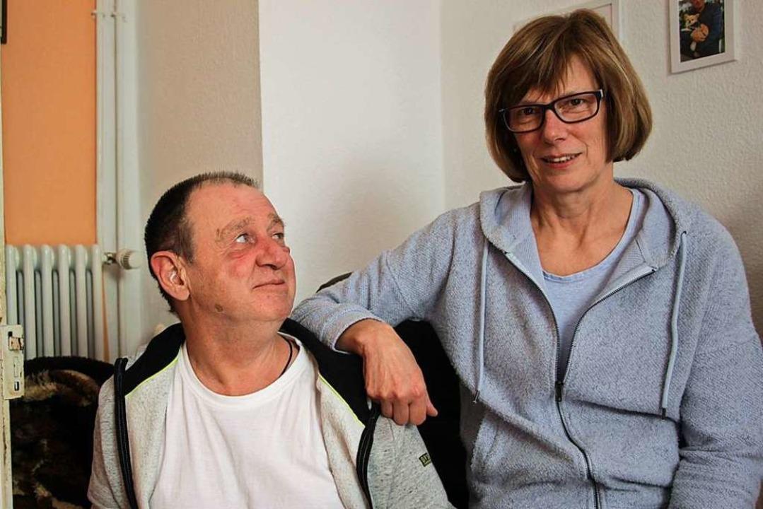 Jürgen Fitzka und Marianne Stelter verstehen sich wie Bruder und Schwester.    Foto: bz