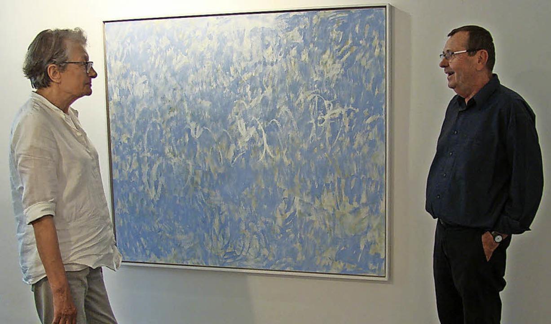 """Giverny"", so der Titel de...Monets Garten. Rechts: Rainer Nepita.   | Foto: rwb"