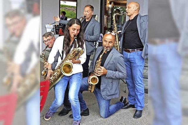 Musik aus fünf Saxophonen
