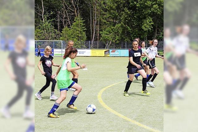 Ein Fußballtag nur für Mädchen