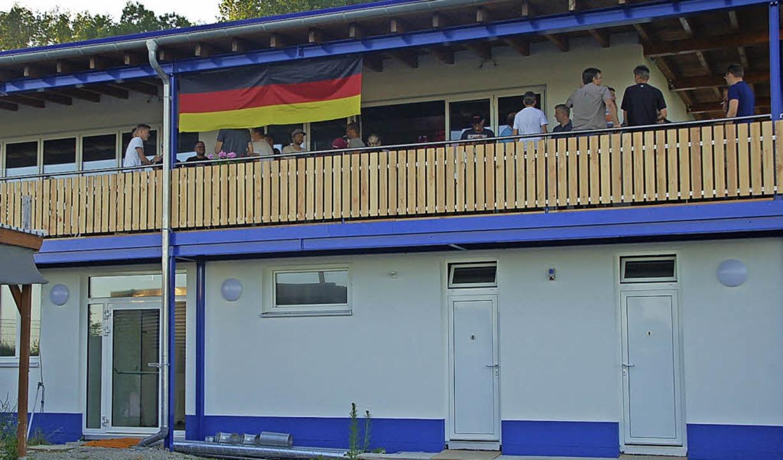 Das neue Vereinsheim des SV Karsau ist in Betrieb.   | Foto: Petra Wunderle