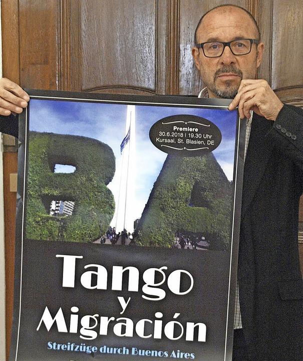 """Roman Kalkas Film """"Tango y Migra...uni  im Kusaal in St. Blasien Premiere    Foto: Karin Stöckl-Steinebrunner"""