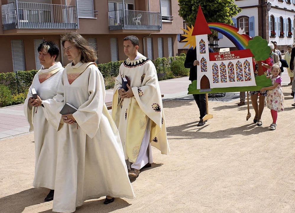Nach dem Gottesdienst anlässlich des P...eim folgte am Sonntag die Prozession.   | Foto: Adelbert Mutz