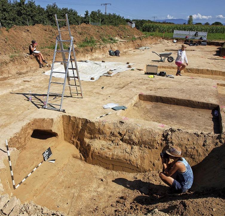 Archäologische Ausgrabungen im August ...igen Neubaugebiets Etterpfad in Wyhl.   | Foto: Michael Haberer