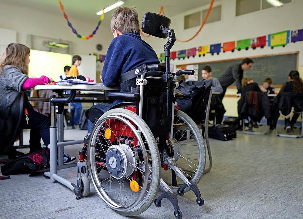 Inklusion an der Schule funktioniert teilweise schon.  | Foto: Symbolfoto: dpa