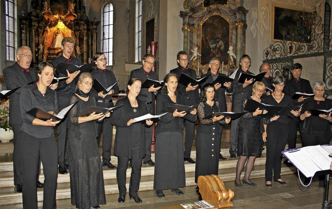 Das Vokal-Ensemble CantAnima bot Chorm...Komponisten in der  Wallfahrtskirche.     Foto: Andreas Böhm