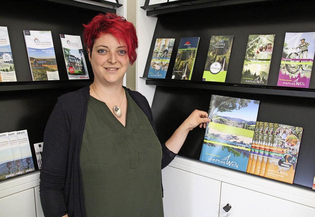 Christina Schrieder ist  neue Leiterin der Görwihler Tourist-Info.  | Foto: Schütz