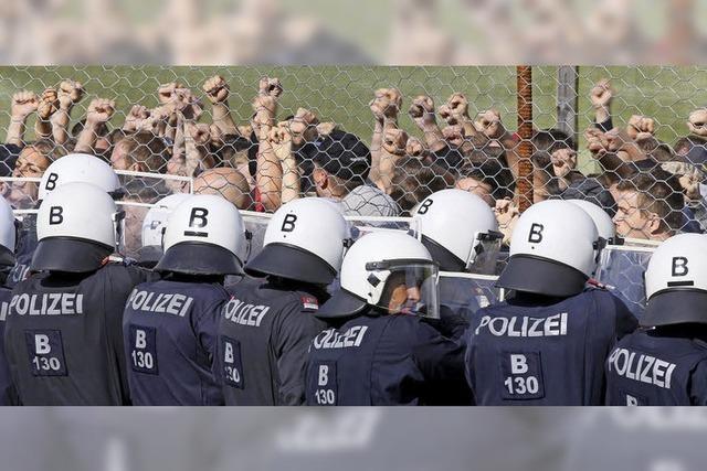 Österreich übt die Abwehr von Flüchtlingen