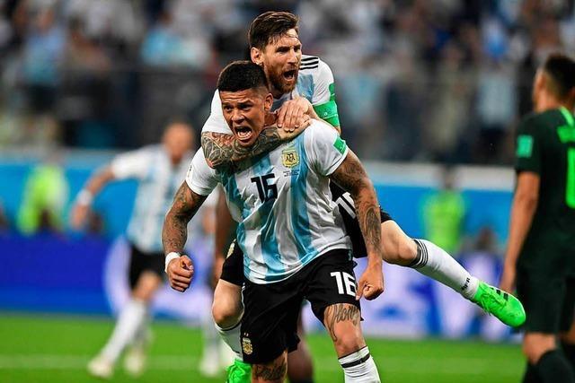 Argentinien wendet kurz vor Schluss das WM-Aus ab