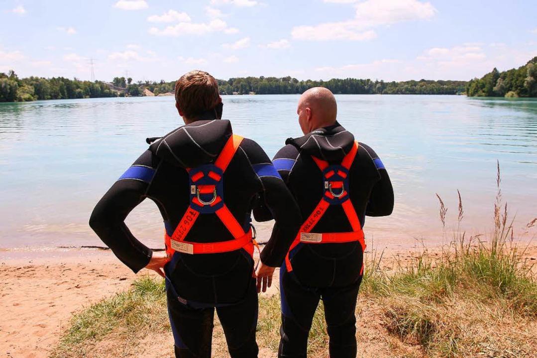 Erneut kamen Taucher am Baggersee zum ...ödlichen Badeunfällen 2014 Badeverbot.    Foto: Peter Heck